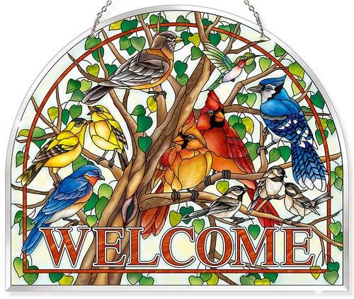 Amia 42807N Wild Birds Co-op Beveled Panel