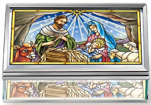 Amia 42816 Jesus Is Born Jewelry Box