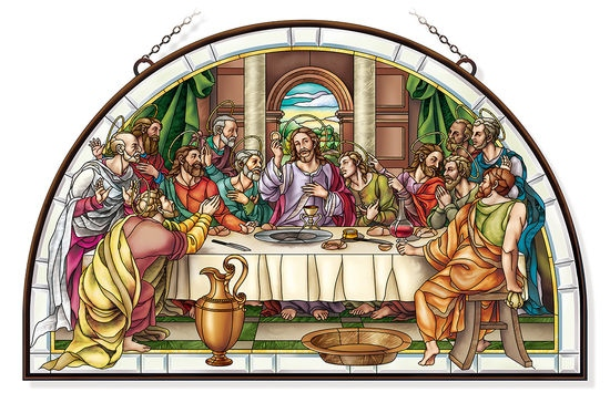 Amia 42819 The Last Supper Half Circle Panel