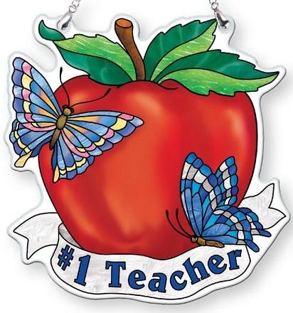 Amia 42824 #1 Teacher Watercut Suncatcher