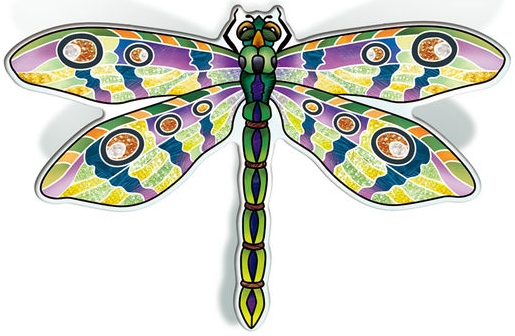 Amia 42825 Green Dragonfly Magnet