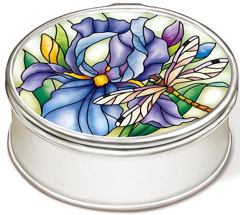 Amia 42851 Iris & Dragonflies Jewelry Box