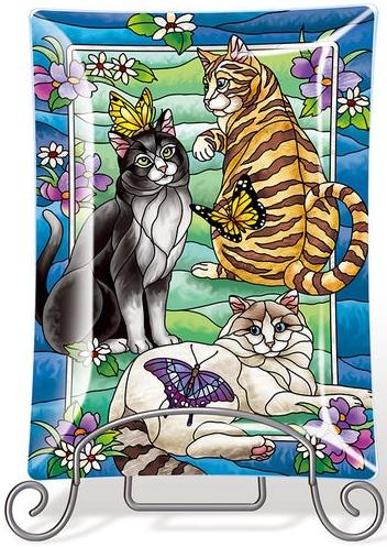 Amia 42854N Feline Flirtations Tray