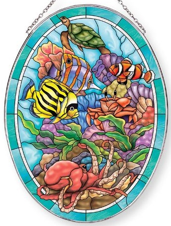 Amia 42857 Sealife Large Oval Suncatcher