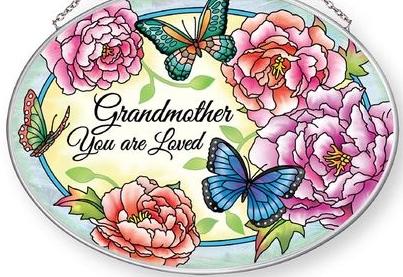 Amia 42873 Grandmother Medium Oval Suncatcher