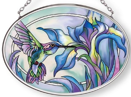 Amia 42875 Look for the Magic Each Day Small Oval Suncatcher