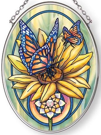 Amia 42877 Butterfly Magic Small Oval Suncatcher