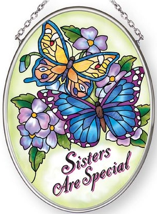 Amia 42880 Sisters Are Special Small Oval Suncatcher