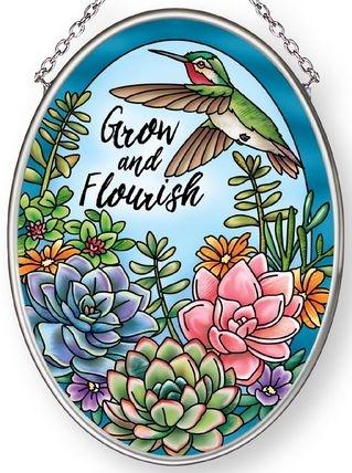 Amia 42884 Grow and Flourish Small Oval Suncatcher