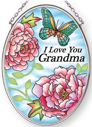 Amia 42888N Love Grandma Small Oval Suncatcher