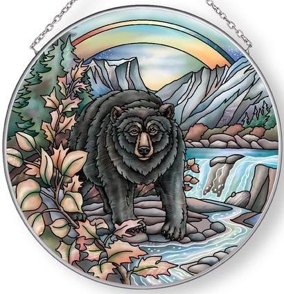 Amia 42890 Follow the Path of the Bear Large Circle Suncatcher