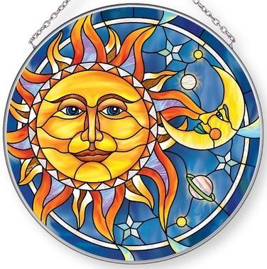 Amia 42893 Sun & Moon Large Circle Suncatcher