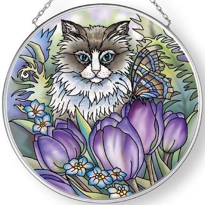 Amia 42901 Garden of the Heart Medium Circle Suncatcher