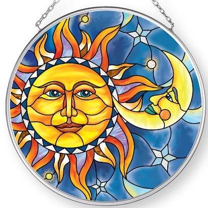 Amia 42903N Sun & Moon Medium Circle Suncatcher