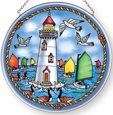 Amia 42904 Catboats and Light Medium Circle Suncatcher