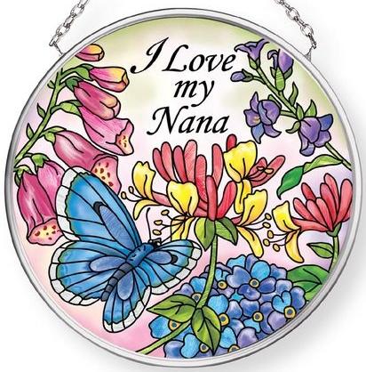 Amia 42911N I Love My Nana Small Circle Suncatcher
