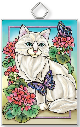 Amia 42917N Garden Cat Rectangle Suncatcher