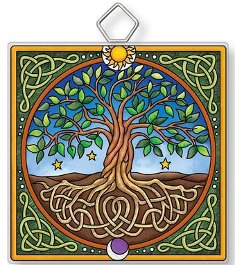 Amia 42924 Tree Of Life Square Suncatcher