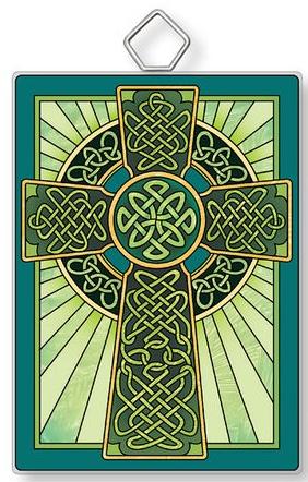 Amia 42925 Celtic Cross Rectangle Suncatcher