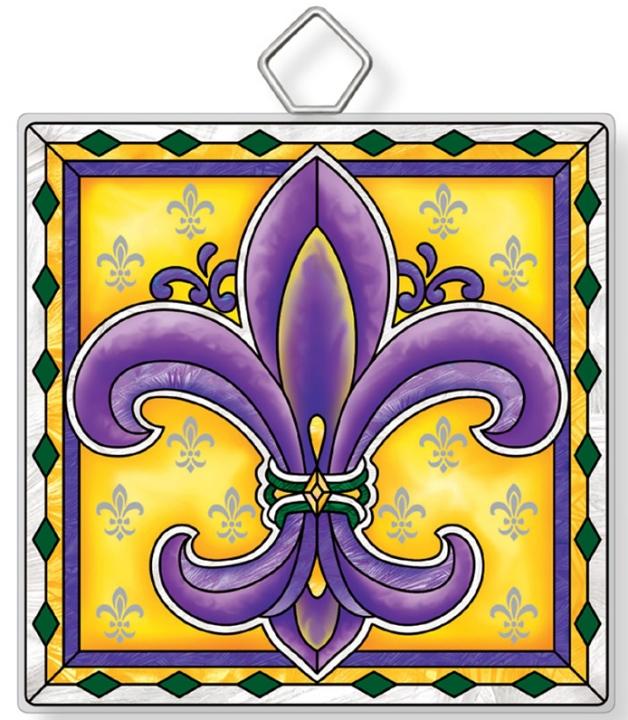 Amia 42930N Fleur De Lis Square Suncatcher