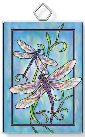 Amia 42935 Contemporary Dragonflies Rectangle Suncatcher