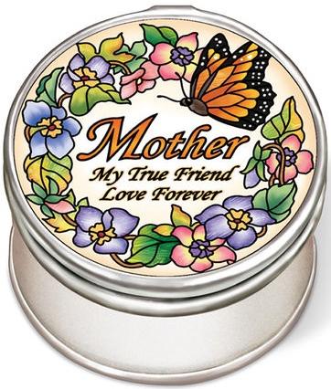 Amia 42945N Mother True Friend Love Petite Circle Jewelry Box