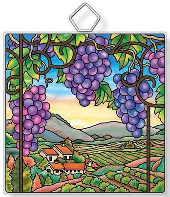 Amia 42949N Vineyard Landscape Square Suncatcher