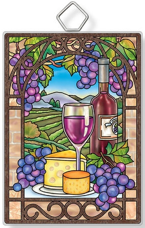 Amia 42950 Vineyard Lunch Rectangle Suncatcher