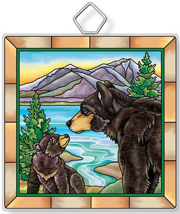 Amia 42952N Bears Square Suncatcher