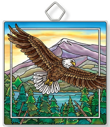 Amia 42954 Eagle Square Suncatcher