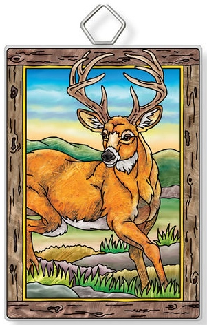 Amia 42955 Deer Rectangle Suncatcher