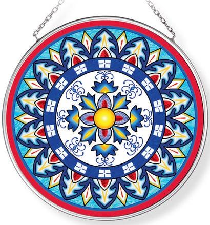 Amia 42961N Calamari Friti Medium Circle Suncatcher