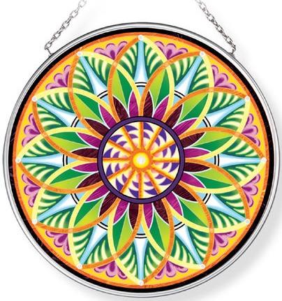 Amia 42962 Fiori Del Sol Sunflower Medium Circle Suncatcher
