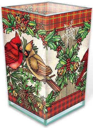 Amia 42986N A Traditional Christmas Rectangular Vase Votive Holder