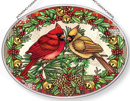Amia 42989 A Traditional Christmas Medium Oval Suncatcher