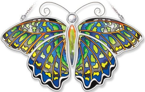 Amia 5173 Green Jay Butterfly Suncatcher