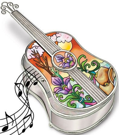 Amia 5206 Country Guitar Jewelry Box