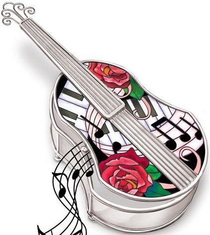 Amia 5211 Classical Violin Jewelry Box