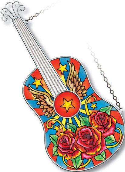 Amia 5214 Rock N Roll Guitar Instrument Suncatcher