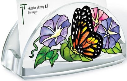 Amia 5220 Unfurling Glory Business Card Holder