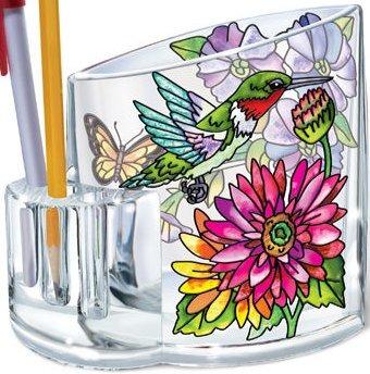 Amia 5243 Hummingbird Garden in Bloom Pencil Holder