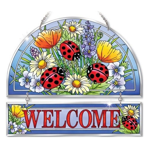 Amia 5267 Ladies In Red Beveled Welcome Panel