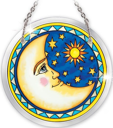 Amia 5279 Celestial Harmony Moon Small Circle Suncatcher