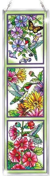 Amia 5282 Hummingbird Garden N Bloom Beveled Panel