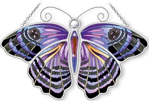 Amia 5308 Purple Washed Eyemark Butterfly Suncatcher