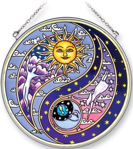 Amia 5320 Yin Yang Large Circle Suncatcher