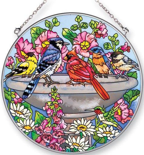 Amia 5324 Summer Birdbath Large Circle Suncatcher