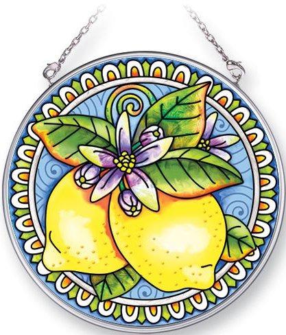 Amia 5348 Tart Lemon Medium Circle Suncatcher