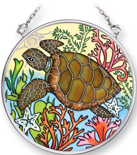 Amia 5352 Sealife Turtle Small Circle Suncatcher
