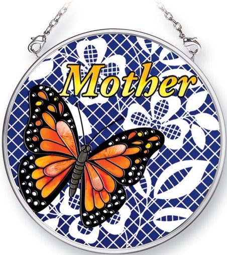 Amia 5356 Mother In Lace Small Circle Suncatcher